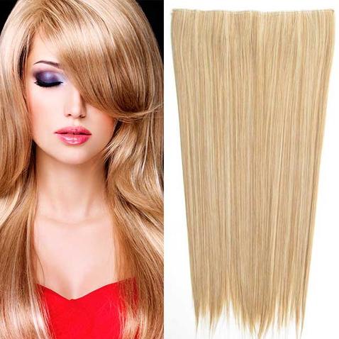 Clip in vlasy - 60 cm dlhý pás vlasov - odtieň M27/613