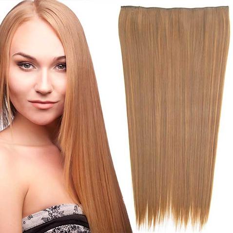 Clip in vlasy - 60 cm dlhý pás vlasov - odtieň F6A/27