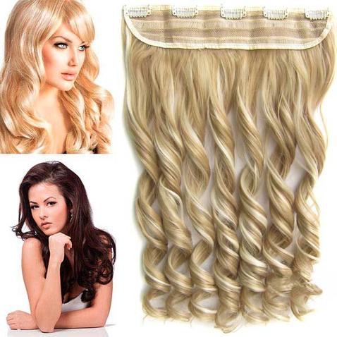 Clip in pás vlasov - lokne 55 cm - odtieň F613/24 - melír