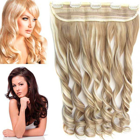 Clip in pás vlasov - lokne 55 cm - odtieň F613/16 - melír