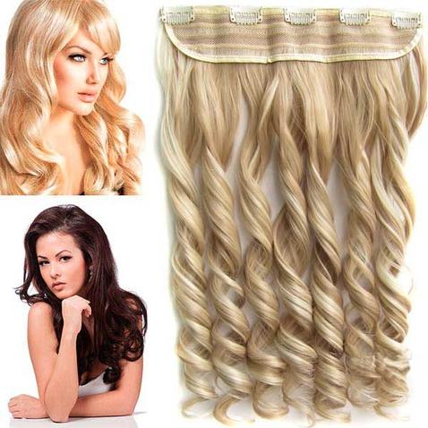 Clip in pás vlasov - lokne 55 cm - odtieň F613/18 - melír