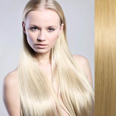Clip in vlasy ľudské - Remy 125 g - pás vlasov - 613 - blond