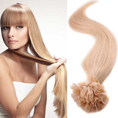 Vlasy keratín kvalita Remy AAA 51 cm, 100 ks - 27 - plavá