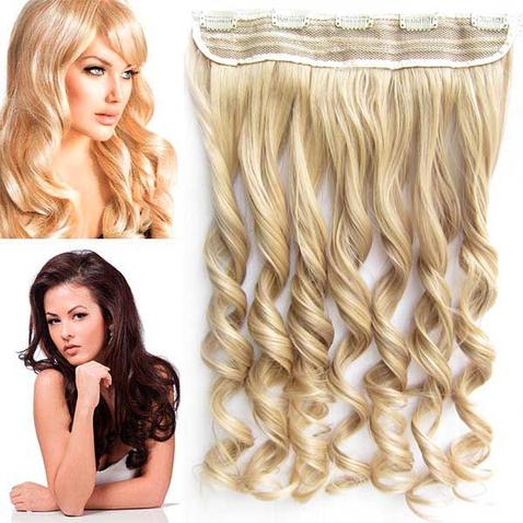 Clip in pás vlasov - lokne 55 cm - F16 / 22 - melír
