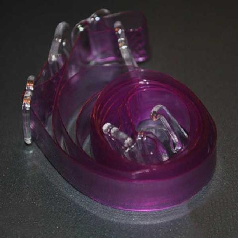 Silikónové ramienka k podprsenke - priehľadne fialové
