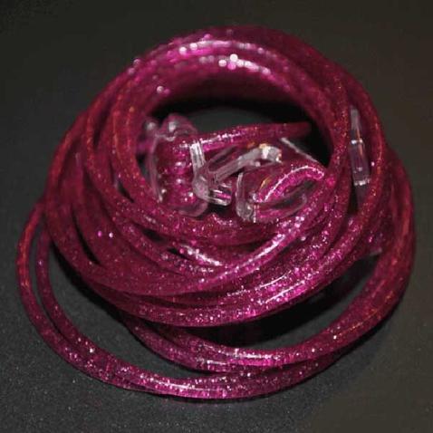 Silikónové ramienka k podprsenke Makaron - fialové s glitrama