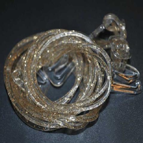 Silikónové ramienka k podprsenke Makaróny - zlaté glitre