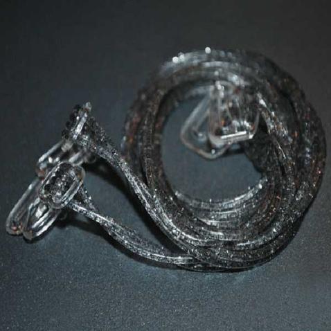 Silikónové ramienka k podprsenke Makaron - sivé s glitrama