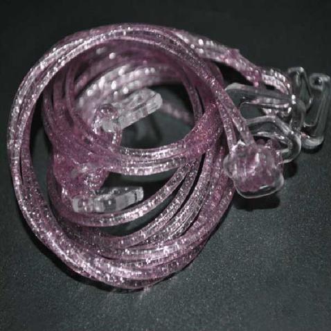 Silikónové ramienka k podprsenke Makaron - ružové s glitrama
