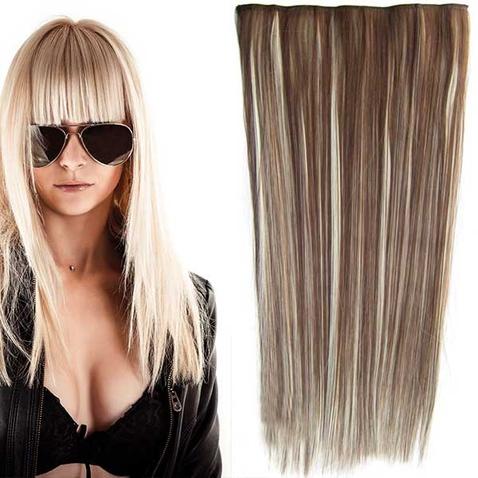 Clip in vlasy - 60 cm dlhý pás vlasov - odtieň F613/8