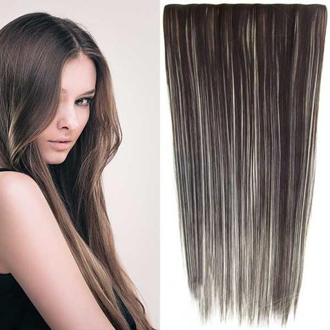 Clip in vlasy - 60 cm dlhý pás vlasov - odtieň F613/6