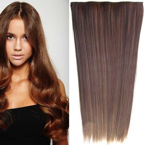 Clip in vlasy - 60 cm dlhý pás vlasov - odtieň F6A/4