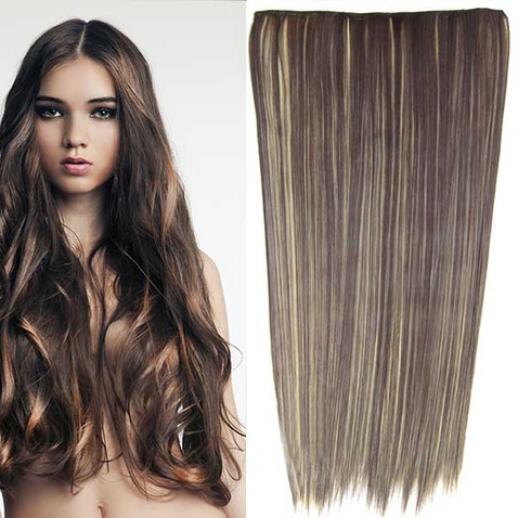 Clip in vlasy - 60 cm dlhý pás vlasov - odtieň F22/4