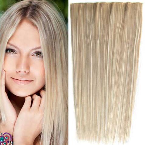 Clip in vlasy - 60 cm dlhý pás vlasov - odtieň F613/16