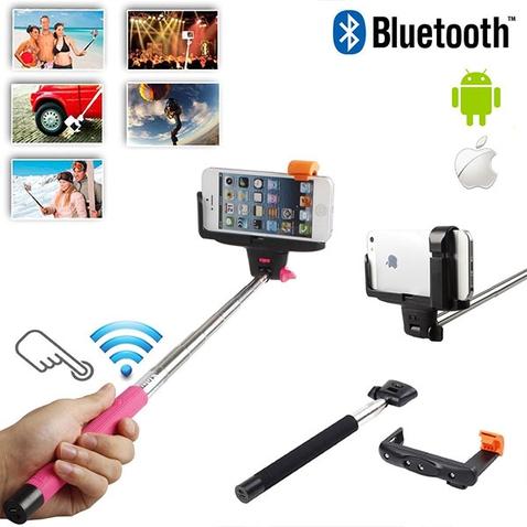 Teleskopická selfie tyč so zabudovaným Bluetooth ovládaním