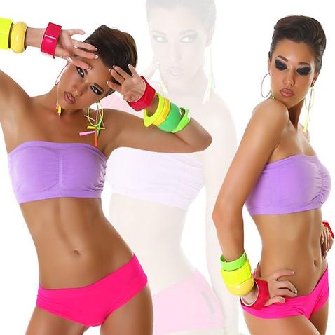 Športová podprsenka s vypchávkami - fialová