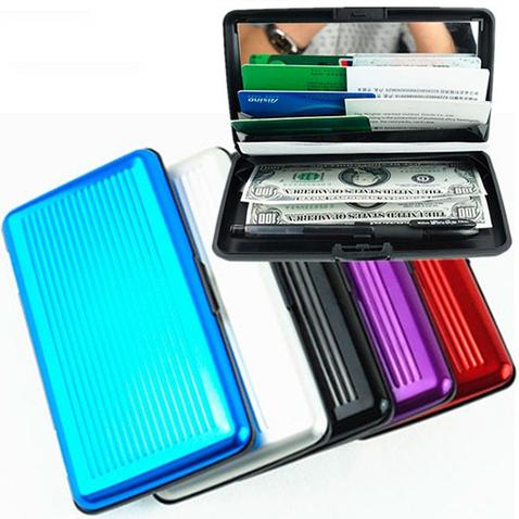 Veľké púzdro na doklady a platobné karty Aluma Wallet