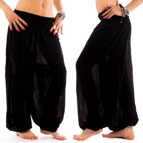 Háremové nohavice Shakira - čierne