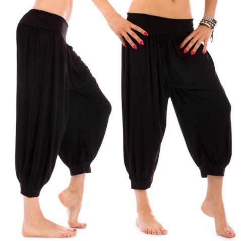 Čierne háremové ¾ nohavice