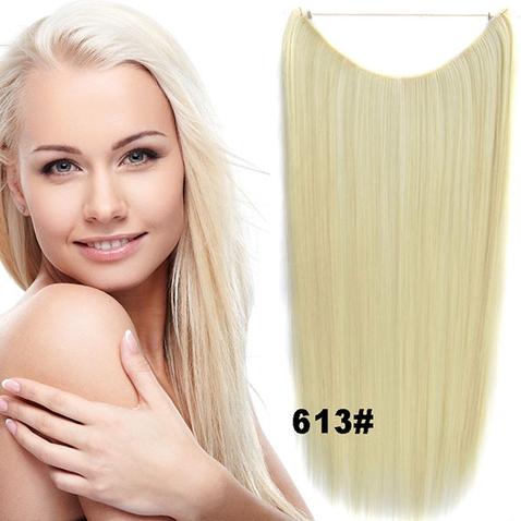 Flip in vlasy - 55 cm dlhý pás vlasov - odtieň 613
