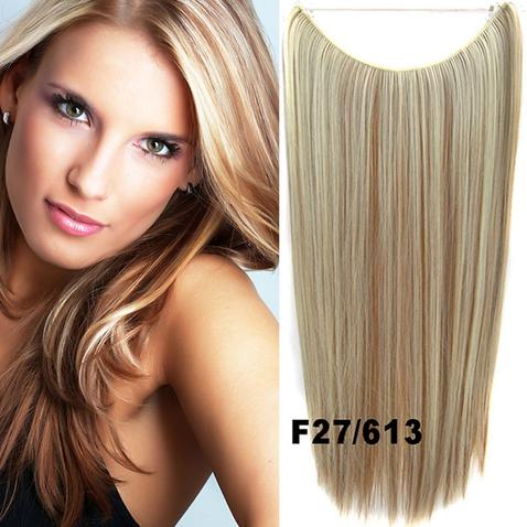 Flip in vlasy - 55 cm dlhý pás vlasov - odtieň F27/613