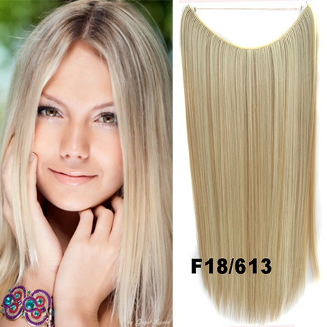 Flip in vlasy - 55 cm dlhý pás vlasov - odtieň F18/613