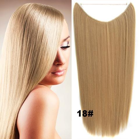 Flip in vlasy - 55 cm dlhý pás vlasov - odtieň 18