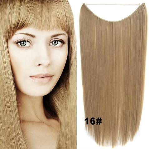 Flip in vlasy - 55 cm dlhý pás vlasov - odtieň 16