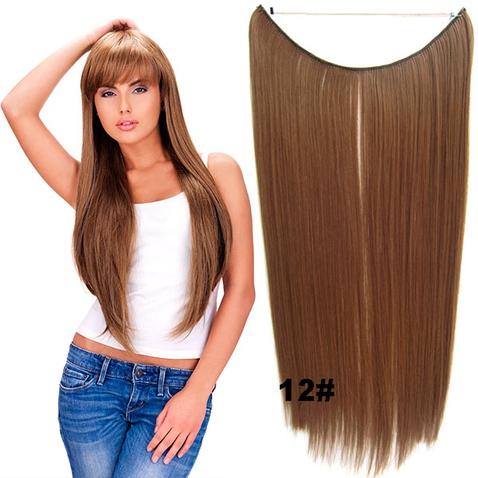 Flip in vlasy - 55 cm dlhý pás vlasov - odtieň 12