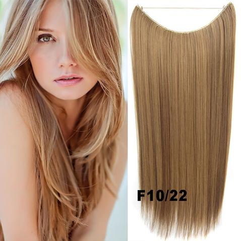 Flip in vlasy - 55 cm dlhý pás vlasov - odtieň F10/22