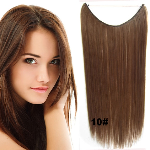 Flip in vlasy - 55 cm dlhý pás vlasov - odtieň 10