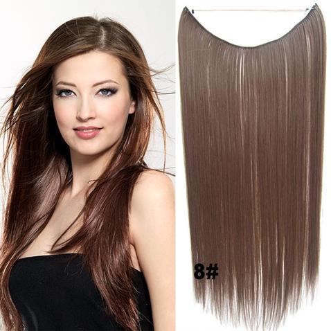 Flip in vlasy - 55 cm dlhý pás vlasov - odtieň  8