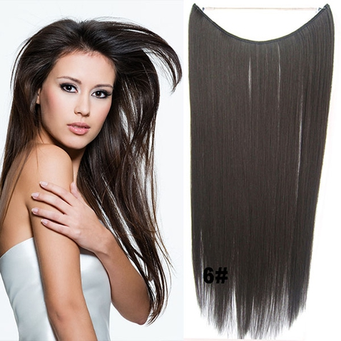 Flip in vlasy - 55 cm dlhý pás vlasov - odtieň 6