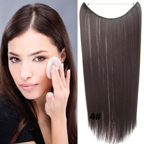 Flip in vlasy - 55 cm dlhý pás vlasov - odtieň 4