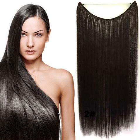 Flip in vlasy - 55 cm dlhý pás vlasov - odtieň 2