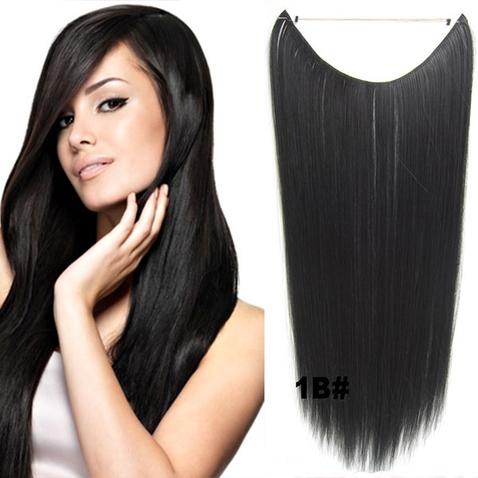 Flip in vlasy - 55 cm dlhý pás vlasov - odtieň 1B