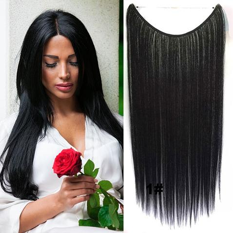 Flip in vlasy - 55 cm dlhý pás vlasov - odtieň 1#