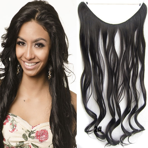 Flip in vlasy - vlnitý pás vlasov - odtieň 2