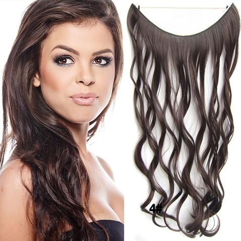 Flip in vlasy - vlnitý pás vlasov - odtieň 4