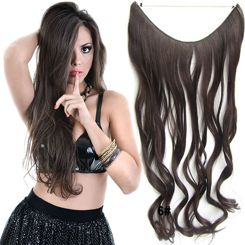 Flip in vlasy - vlnitý pás vlasov - odtieň 6
