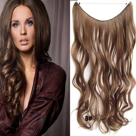 Flip in vlasy - vlnitý pás vlasov - odtieň 8
