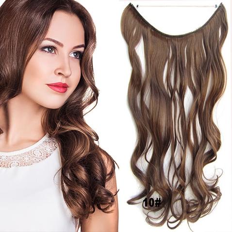 Flip in vlasy - vlnitý pás vlasov - odtieň 10