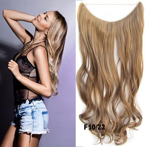 Flip in vlasy - vlnitý pás vlasov - odtieň F10/22