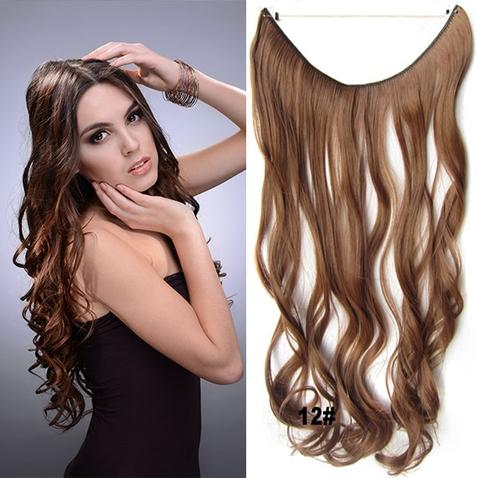 Flip in vlasy - vlnitý pás vlasov - odtieň 12