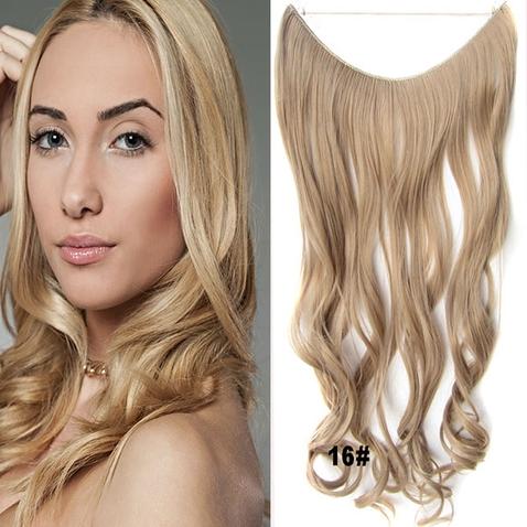 Flip in vlasy - vlnitý pás vlasov - odtieň 16