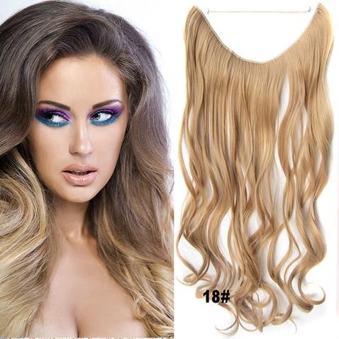 Flip in vlasy - vlnitý pás vlasov - odtieň 18
