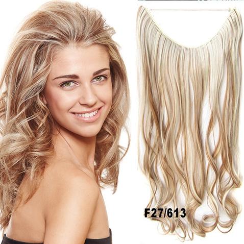 Flip in vlasy - vlnitý pás vlasov - odtieň F27/613