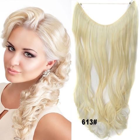 Flip in vlasy - vlnitý pás vlasov - odtieň 613