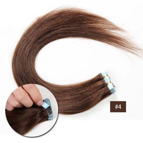 Vlasy na predĺženie TAPE IN - dĺžka 40 cm, odtieň 4