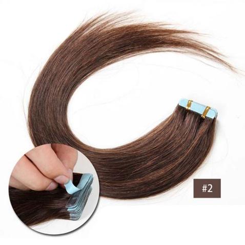 Vlasy na predĺženie TAPE IN - dĺžka 45 cm, odtieň 2